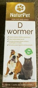 NEW NaturPet for Cats & Dogs D Wormer 3.3 fl oz Liquid Extract Exp 10-2024
