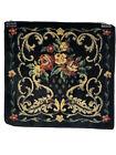 Vintage Floral Tapestry Velvet 12 x 12 Square EUC