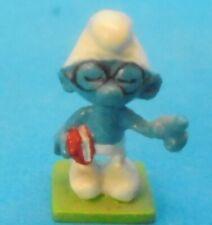 Schlümpfe MINI - Metall Figur Nr. 2158 BRILLEN SCHLUMPF lunettes Firma Pixi