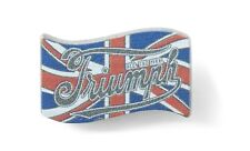 Brooch Pin Metal Genuine Triumph Union Jack Badge MPBS19313