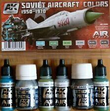 AK Interactive Soviet Aircraft Colours 1950-1970 Acrylic/Enamel Set For Models