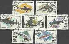 Timbres Poissons Requins Madagascar 1249/55 o lot 18365