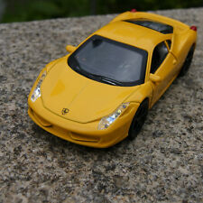Toys Alloy Diecast Model Car 1:34 Ferrari 458 Sound&Light Children's Gift Yellow