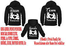 Dream Team Hoodie Family Set Pullover Partner Look Viele Farben New Gr XS - 5XL