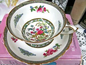 Paragon tea cup and saucer tree of Kashmir pattern floral teacup pink flowers