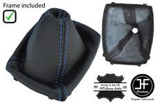 Blue Stitch 6 velocità in Pelle Ghetta Del Cambio + cornice di plastica per Ford Kuga 08-2012