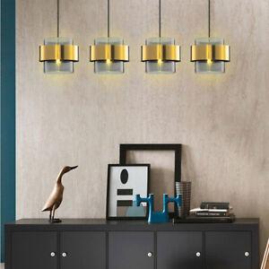 Smoky Grey Glass Shade Brass Kitchen Bedroom Hallway Shop Ceiling Pendant Light