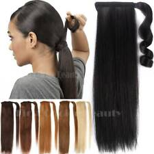 Russian Remy Thick Wrap Around Ponytail Clip in Human Hair Extensions One Piece
