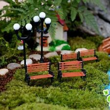 Toy Gifts Dollhouse Decor Miniature Park Seat Bench Garden Ornament Craft