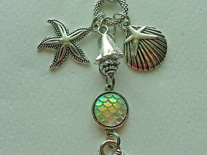 MERMAID SEA SHELLS SUN CATCHERS REAR VIEW MIRROR CAR CHARM MOBILES ORNAMENT