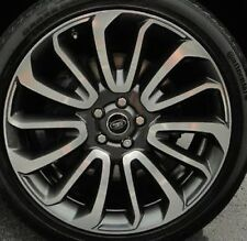 "Range Rover 2013+ L405 Autobiography FEO 22"" 7 Spoke Wheels Technical Grey NEW"