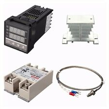 Digital 220v Pid Rex C100 Temperature Controller 40a Ssr K Thermocouple Hkdt