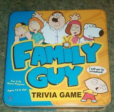 Family Guy-Trivia Game! by Cardinal Games (Complete) TIN BOX