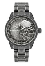 Police Neist Skull Men's Watch PL15715JSQU-78M Analog Stainless Steel Black