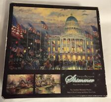 "Thomas Kinkade SHIMMER ""Flags Over The Capital"" 750 Piece Puzzle NEW SEALED"