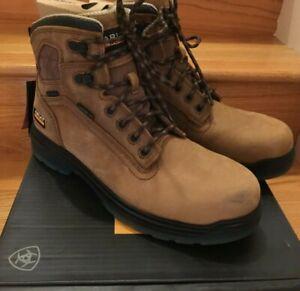 NWT Men Ariat Boots Brown 10027335 Turbo 6 EH H20 Waterproof Work CARBON TOE