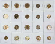 Lot of 20 Gold Plated Us Coins 6 Cent 11 Nickel 3 Dime Unc in 2x2s