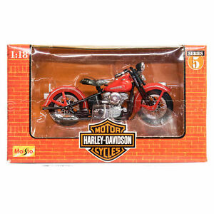 NEW 1998 Vintage Maisto Harley-Davidson, #4 of 6 1948 FL PANHEAD 1:18 MOTORCYCLE