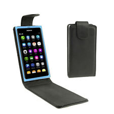 COVER CUSTODIA FLIP CASE PER NOKIA LUMIA 800 ECO PELLE NERO LIBRO BOOK BLACK