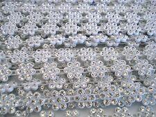 Diamonte Trim 1m White Flowers AA Grade Diamante Rhinestone FREE POSTAGE