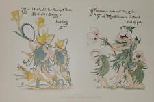 Walter Crane Osterglocken Horn Anemonen Jugendstil Art Nouveau Arts&Craft spring