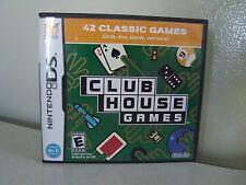 Nintendo DS Club House Games Complete 42 Classic Games EUC
