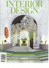 INTERIOR DESIGN,       ISSUE,2013      NUMBER, 10      ( INSIDE  ART )