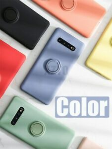 ✅Original Soft Silicone Matte Magnetic Ring Case For S20 S20+ S10 S10eS9 S9+ S8