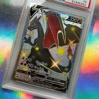 PSA 10 Secret Rare Shiny Charizard V Card ☆ Pokemon Champions Path Gem Mint 079