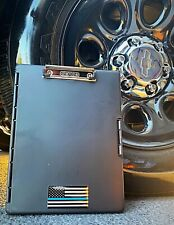 Thin Blue Line Police Slimcase Storage Clipboard with Side Opening, Black New