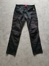 RST motorcycle Black aramid Jeans Cargo Trousers with Knee Protector Armour
