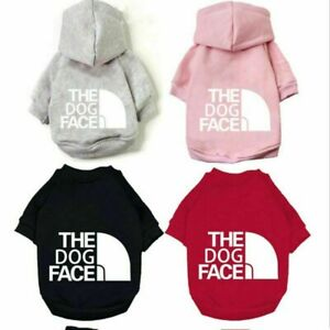 Fashion Dog Hoodie Winter Pet Clothes Dogs Coat Jacket Cotton The Face Warm Soft