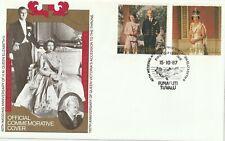 1987 Funafuti/Tuvalu FDC cover 40th Wedding Anniversary Queen Elizabeth II