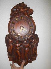 Vintage Pendule Horloge résine Satyre Femme nue Naïade Nymphe genre forêt noire?