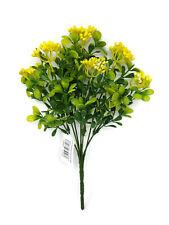 Artificial Berry Bush x 30cm - Yellow Green Wildflower Leaf Foliage Plant