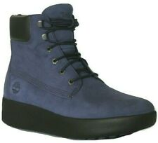 "Women's Ladies Timberland Berlin 6"" 6 Inch Boots Shoes Blue Leather Size UK 5.5"