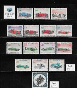 WC1_9288. MONACO. 1967 25th ANN. MONTECARLO RALLY set. Scott 648-661, C73. MNH