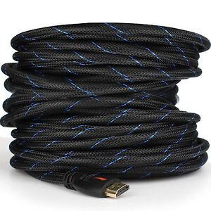 Braided HDMI Cable V1.4 1080P HD HDTV Video Lead 3D Full HD 4K 3M 5M 10M 15M 20M