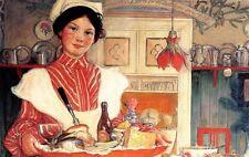 Carl Larsson pintor suecia martina con el desayuno bandeja um1904 facsímil 4
