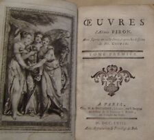 PIRON Aléxis - OEUVRES - GRAVURES COCHIN - COMPLET 3 VOLUMES - 1758