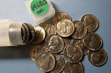 """Lot of 1968-S  JEFFERSON """"PROOF"""" NICKELS, 1 Tube or 40 Coins Total, Uncirculated"""