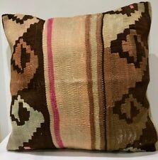 Luxury Wool Turkish Moroccan Colourful Kilim Cushion Covers (60cm x 60cm)