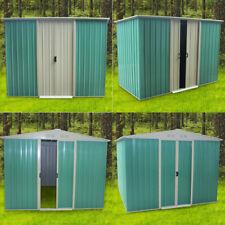 8x4',8x6',8x8',8x10' Heavy Duty Metal Garden Shed Storage Garage House Outdoor