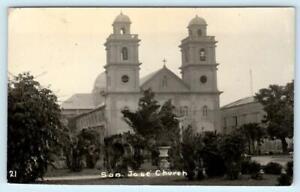 RPPC  ILOILO, PHILIPPINES ~ Real Photo SAN JOSE CHURCH 1934  Postcard