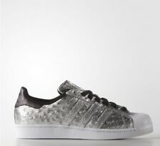 ADIDAS SUPERSTAR CHAUSSURES POUR HOMMES UK 9 Argent Baskets NEUF