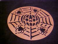 Halloween Plastic Cake Stencil Pumpkin Spiders NEW Reusable