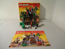 (TB) Lego System 6076 Cave Des Dark Dragons with Boxed Ba 100% Complete Top