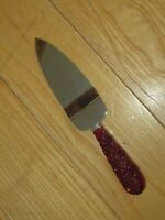 Avon Cape Cod Collection Ruby Red Glass Dessert Server Pie Cake Knife Vintage