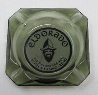 Vintage Eldorado Casino Hotel Smokey Grey Glass Ashtray Reno Nevada NO CHIP NICS