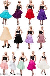 "BANNED 50s Dress Rockabilly Lifeforms Petticoat Under Skirt 26"" 10 12 14 16 18"